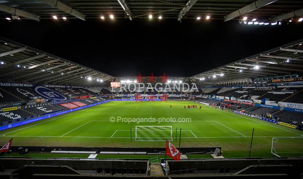 SWANSEA, WALES - Thursday, November 12, 2020: A general view before an International Friendly match between Wales and the USA at the Liberty Stadium. (Pic by David Rawcliffe/Propaganda)