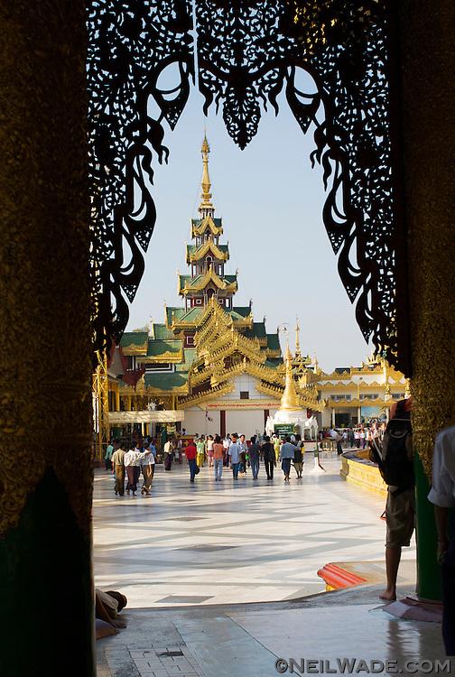 Shwedagon Pagoda in Yangon, Myanmar.