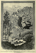 Banias (Caesarea Philippi) Engraving on Wood from Picturesque Palestine, Sinai and Egypt by Wilson, Charles William, Sir, 1836-1905; Lane-Poole, Stanley, 1854-1931 Volume 2. Published in New York by D. Appleton in 1881-1884
