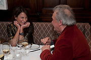CAROLINE SIEBER; DAVID BAILEY, Graydon and Anna Carter host a lunch for Carolina Herrera to celebrate the ipening of her new shop on Mount St. .The Connaught. London. 20 January 2010