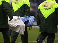 Photo: Greig Cowie<br />Nationwide League Division 1. Coventry v Wimbledon. 08/03/2003<br />Gary McAllister is stretchered from the field