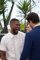 Usher Raymond IV and Édgar Ramírez at the Hands Of Stone film photo call at the 69th Cannes Film Festival Monday 16th May 2016, Cannes, France. Photography: Doreen Kennedy