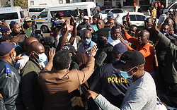 South Africa - Pretoria - 22 June 2020 - Minister of Transport, Fikile Mbalula meeting with taxi operators on Commissioner street in Shoshanguve as the taxi strike continues.<br /> Picture: Jacques Naude/African News Agency(ANA)
