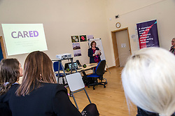 Pictured: Maureen Watt.<br /> Today Mental Health Minister Maureen Watt vsiisted the Royal Hospital in Edinburgh to help aunch the online resource aimed at young people in this Eating Disorders Awareness Week, While thee she met two two Beat ambassadors, Constance Barter and Ballari Conner<br /> <br /> Ger Harley   EEm 28 Fbruary 2018