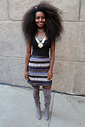 13 September-Brooklyn, New York:  Blogger Sunita V attends the Essence Street Style Block Party held at The Dumbo Archway Under the Manhattan Bridge on September 13, 2015 in the DUMBO section of Brooklyn, New York.   (Photo by Terrence Jennings/terrencejennings.com)