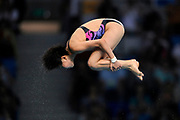 China's Chen Ruolin dives during the women's 10 m platform diving competition, in Beijing Olympics, on August 20, 2008, in Beijing, China. Photo by Lucas Schifres/Pictobank/Cameleon/ABACAPRESS.COM