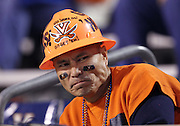 Oct. 22, 2011 - Charlottesville, Virginia - USA; A Virginia Cavaliers fan scallows during an NCAA football game against the North Carolina State Wolfpack at the Scott Stadium. NC State defeated Virginia 28-14. (Credit Image: © Andrew Shurtleff/