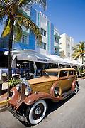 Vintage Packard 1932 Classic sedan automobile by Casablanca at Ocean Drive, South Beach, Miami, Florida, USA