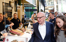 June 14, 2017 - London, England, United Kingdom - Rupert Murdoch at Borough Market as it re-opens to the public following the terrorist attack on June 14, 2017 in London, England. Eight people were killed and at least 48 injured in terror attacks on London Bridge and Borough Market on June 3rd  (Credit Image: © Jay Shaw Baker/NurPhoto via ZUMA Press)