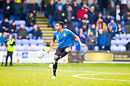 Mansfield Town defender Malvind Benning warming up before the matchthe EFL Sky Bet League 2 match between Macclesfield Town and Mansfield Town at Moss Rose, Macclesfield, United Kingdom on 16 November 2019.
