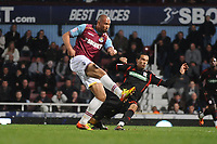 Football - The Championship - West Ham United vs. Middlesbrough<br /> John Carew - west ham Seb Hines - MBoro