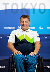 TOKYO, JAPAN --AUGUST 26: Henrik Plank of Team Slovenia posing during photo session at Paralympic village on day 2 of the Tokyo 2020 Paralympic Games on August 26, 2021 in Tokyo, Japan. Photo by Vid Ponikvar / Sportida