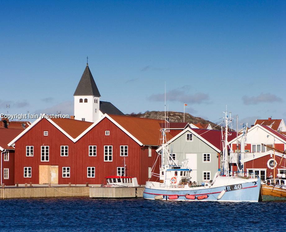 Harbour at Skarhamn a village on the west Bohuslan coast in Sweden