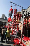 China, Beijing, Busy pedestrian street market