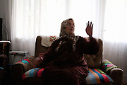 Sija Mustafic in her home in Srebrenica...Matt Lutton for The International Herald Tribune..Capture of Ratko Mladic. Srebrenica, Bosnia and Herzegovina. May 29, 2011.