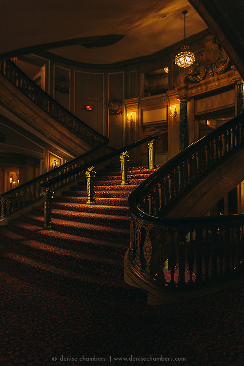Stairwell in the Chicago Theater.