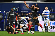 q10= and Brentford Defender Henrik Dalsgaard(22) during the EFL Sky Bet Championship match between Queens Park Rangers and Brentford at the Kiyan Prince Foundation Stadium, London, England on 17 February 2021.