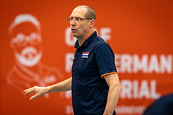 Coach Roberto Piazza of Netherlands in action during the Olaf Ratterman Memorial match between Netherlands vs. Eredivisie All Star team on May 03, 2021 in Barneveld.
