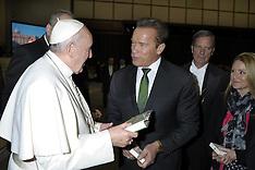 Vatican: Arnold Schwarzenegger Meets Pope - 25 Jan 2017