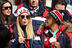 U.S. President Donald Trump's daughter Ivanka, left, talks with United States women's two-man bobsled silver medallist Lauren Gibbs as they watch the four-man bobsled final at the Pyeongchang 2018 Winter Olympic Games in South Korea, Sunday, February 25, 2018. Photo by Jonathan Hayward/CP/ABACAPRESS.COM