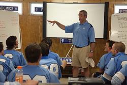 26 April 2009: North Carolina Tar Heels head coach Joe Breschi during a 15-13 loss to the Duke Blue Devils during the ACC Championship at Kenan Stadium in Chapel Hill, NC.