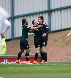 Raith Rovers Ryan Hardie cele scoring their second goal. <br /> Raith Rovers 2 v 2 Falkirk, Scottish Championship game played 23/4/2016 at Stark's Park.
