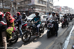 Bikes on the streets of Kathmandu after our Himalayan motorcycling adventure, Nepal. Friday, November 16, 2018. Photography ©2018 Michael Lichter.