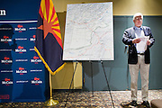 "July 10, 2010 - PHOENIX, AZ: US Senator JOHN MCCAIN (R-AZ) waits to speak at a town hall meeting in Phoenix. Sen. McCain held a ""town hall"" meeting at a hotel in Phoenix Saturday morning. He criticized the Obama administration's handling of the war in Afghanistan, specifically the July 2011 date for the beginning of the withdrawl of US forces, the administration's handling of the immigration and border security issue and the recently passed health care reform bill, which he called ""Obamacare."" McCain is in a primary battle with former Congressman JD Hayworth, he did not mention Hayworth, by name during the meeting.   Photo by Jack Kurtz"