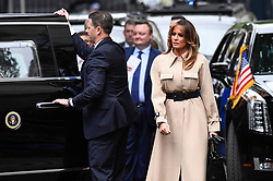 © Licensed to London News Pictures. 04/06/2019. LONDON, UK.  Melania Trump arrives with US President Donald Trump (not pictured) in Downing Street to meet outgoing Prime Minister Theresa May for talks, on day two of his three day State Visit to the UK.  Photo credit: Stephen Chung/LNP