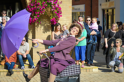 The world's first and only shopping dance display team, Granny Turismo, perform in South Woodham Ferrers town centre.