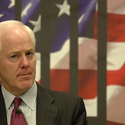 Austin, TX October 31, 2005: U.S. Government Officials, including U.S. Senator John Cornyn (R-Texas), high tech leaders and legal scholars hold a forum on the protection of intellectual property Monday at the University of Texas School of Law. <br /> ©Bob Daemmrich