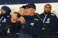 Tony Pulis,  the manager of West Bromwich Albion looks on.  .Carabao Cup 3rd round match, West Bromwich Albion v Manchester City at the Hawthorns stadium in West Bromwich, Midlands on Wednesday 20th September 2017. pic by Bradley Collyer, Andrew Orchard sports photography.