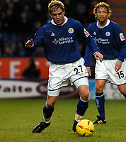 Fotball<br /> Championship England 2004/05<br /> Leicester v Plymouth<br /> 27. november 2004<br /> Foto: Digitalsport<br /> NORWAY ONLY<br /> LEE MORRIS LEICESTER CITY
