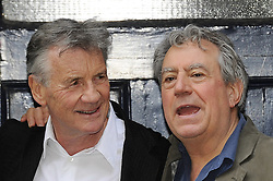 September 23, 2016 - File - TERRY JONES, one of the founding members of comedy troupe Monty Python, has been diagnosed with dementia. The 74-year-old has primary progressive aphasia, which erodes the ability to use language. As a result, Jones can no longer give interviews. Pictured: June 30, 2014 - London - Michael Palin and Terry Jones attend a photocall as the cast of 'Monty Python' reunite for a series of gigs. (Credit Image: © face to face/ZUMAPRESS.com)