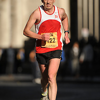 25 October 2010; James Liddane, from Sixmilebridge, Co. Clare, in action during the Lifestyle Sports - adidas Dublin Marathon 2010, Merrion Square, Dublin. Picture credit: Barry Cregg / SPORTSFILE *** NO REPRODUCTION FEE ***