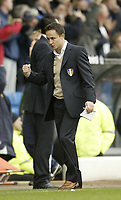Photo: Aidan Ellis.<br /> Leeds United v Luton Town. Coca Cola Championship. 10/03/2007.<br /> Leeds Dennis Wise celebrates the 1st goal
