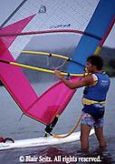 Outdoor recreation, Wind Surfing, Lake Nockamixon State Park, Bucks Co., Quakertown, PA