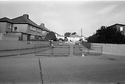 Credit Union Official Shot Dead In Artane. (R63)..1987..25.08.1987..08.25.1987..25th August 1987..While depositing takings in the night safe of Allied Irish Bank in Atrane, Mr Michael Thackaberry was confronted by two armed raiders. The raiders snatched the money and made off on foot. Mr Thackaberry gave chase and was gunned down by one of the raiders as he attempted to recover the money. Mr Thackaberry died at the scene of the shooting...Image shows a view of Danieli Drive ,Artane where Mr Michael Thackaberry died trying to retrieve the money which was stolen.