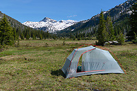 Backcountry camp in Upper Lostine River Valley Eagle Cap Wilderness Oregon