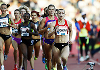 Friidrett , 7. juni 2012 , Diamond League Bislett Games , <br /> Ingvill Måkestad Bovim , NOR ,  Anna Luchkina , RUS 1500  m