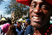 February 28th 2006. .New Orleans, Louisiana. United States. .After their morning Mardi Gras Parade, the Krewe of Zulu has a walking parade from the Superdome to the Zulu Social Aid & Pleasure Club (Orleans Ave and N. Broad Street)....