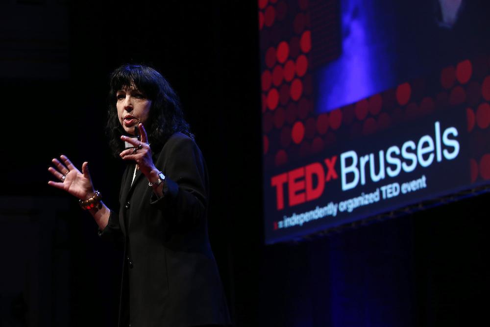 Session I - 28 October 2013<br /> <br /> Diana Reiss , Professor of Psychology at  Hunter College<br /> <br /> TEDX BRUSSELS 2013 - Belgium - Brussels - October 2013 © TEDx Brussels/Scorpix