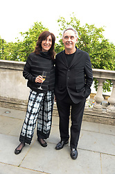 FERRAN ADRIA and his wife ISABEL at the opening party for elBulli: Ferran Adria and The Art of Food - an exhibition at Somerset House, London on 4th July 2013.