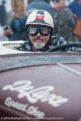 Scott McCann of Colorado stages his 1932 Ford Roadster at the start of TROG West - The Race of Gentlemen. Pismo Beach, CA, USA. Saturday October 15, 2016. Photography ©2016 Michael Lichter.