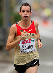 Tobias Sauter of Germany competes in the Mens Marathon during day six of the 20th European Athletics Championships at the roads of city Barcelona on August 1, 2010 in Barcelona, Spain. (Photo by Vid Ponikvar / Sportida)
