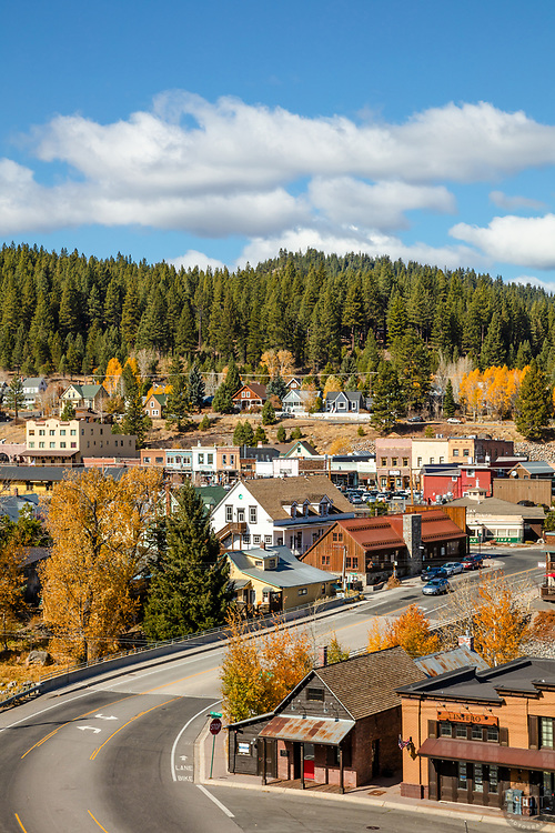 """Downtown Truckee 71"" - Autumn photograph Historic Downtown Truckee, California."