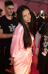 Adriana Lima backstage during the Victoria's Secret Fashion Show 2016 held at The Grand Palais, Paris, France