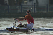 Peter Spurrier Sports  Photo.email pictures@rowingpics.com.Tel 44 (0) 7973 819 551..Photo Peter Spurrier.29/03/2002.2002 Thames World Sculling Challenge.Iztok Cop [Mandatory Credit Peter Spurrier; Intersport Images]