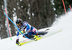 """Alexander Khoroshilov (RUS) competes during 1st Run of FIS Alpine Ski World Cup 2017/18 Men's Slalom race named """"Snow Queen Trophy 2018"""", on January 4, 2018 in Course Crveni Spust at Sljeme hill, Zagreb, Croatia. Photo by Vid Ponikvar / Sportida"""