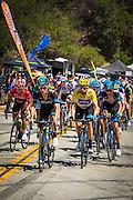 Professional cyclist Bradley Wiggins  at the Amgen Tour of California, Santa Monica Mountains, California USA